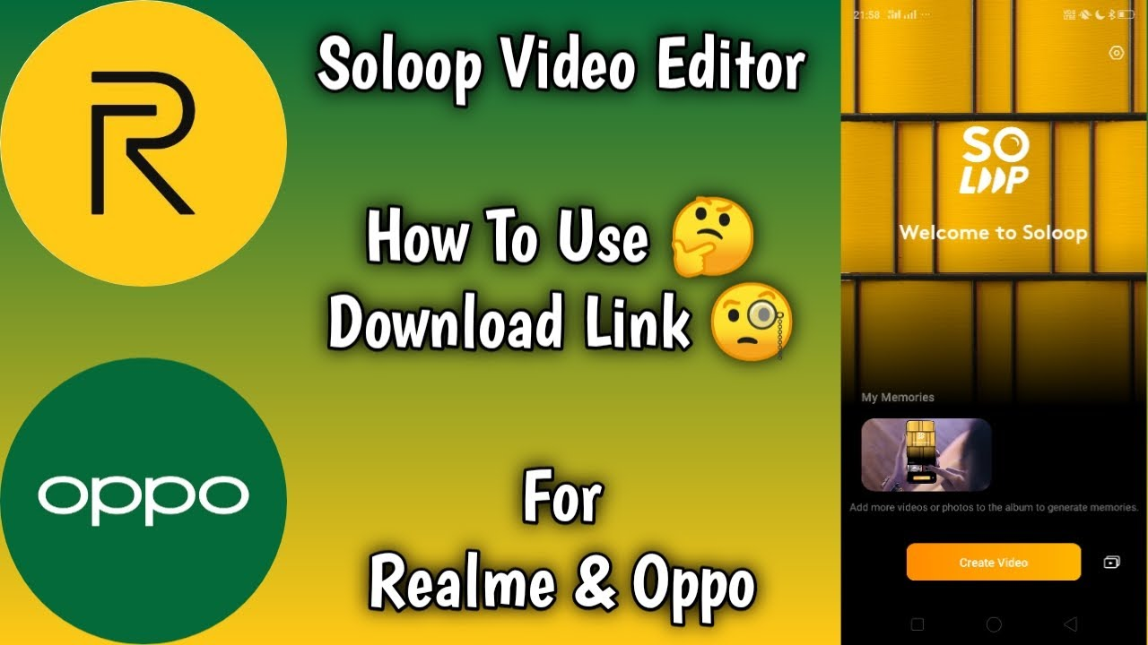 Soloop Realme Soloop Oppo Soloop Video Editor Soloop App Download Soloop Apk Download Rj Youtube