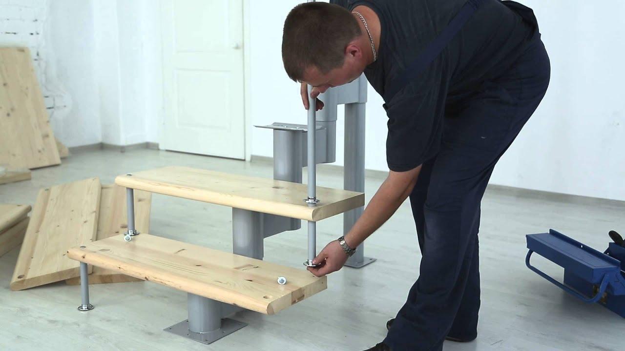 Установка модульной лестницы своими руками – как установить .