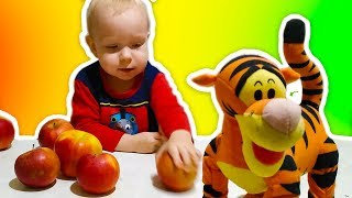 Max and Vitya Pretend Play with Food and Toys for kids   Funny video for toddlers