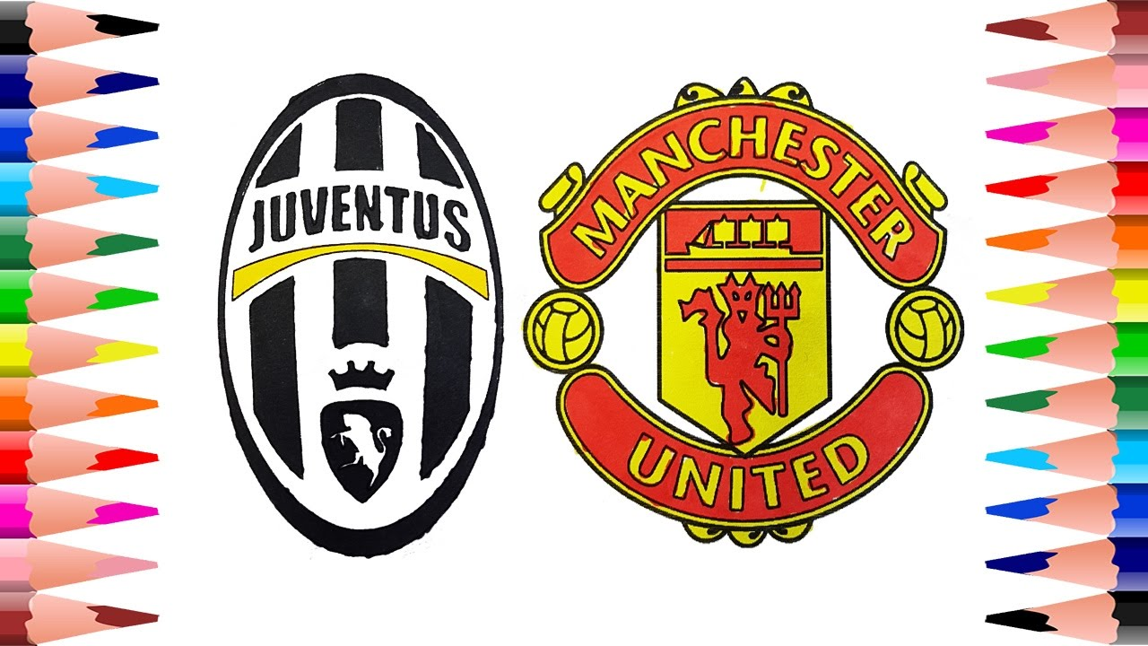 Painting Juventus And Manchester United Football Clubs