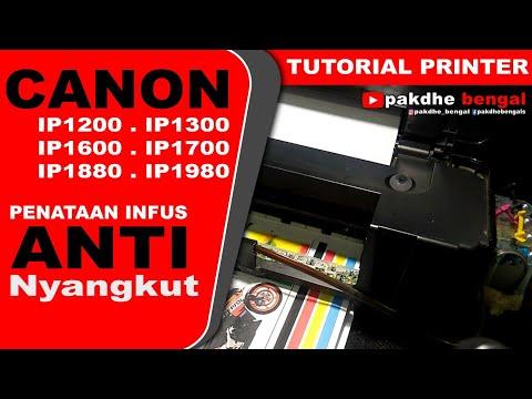 Penataan Infus Printer Canon Lama Ip1200 Ip1300 Ip1600 Ip1700 Ip1880 Ip1980, Infus Canon Ip1200 Ip13
