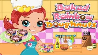 How to Make Baked Rainbow Doughnuts Video Play-Cooking Movie Games-Girls Games Online
