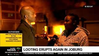 Looting erupts again in Joburg