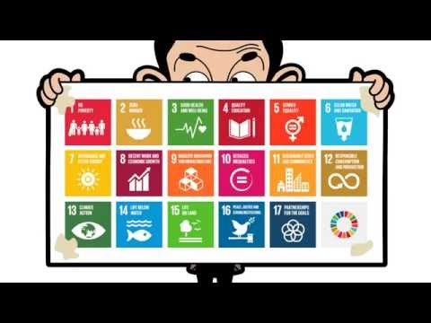 Mr Bean's Poster for the Global Goals