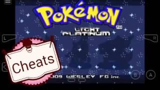 Todos os cheats de Pokémon Light platinum