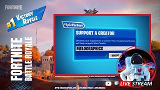 Fortnite Battle Royale Gameplay Highlights 0531 | #EpicPartner Support-a-Creator MELOGRAPHICS