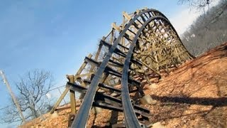 Outlaw Run front seat on-ride HD POV Silver Dollar City