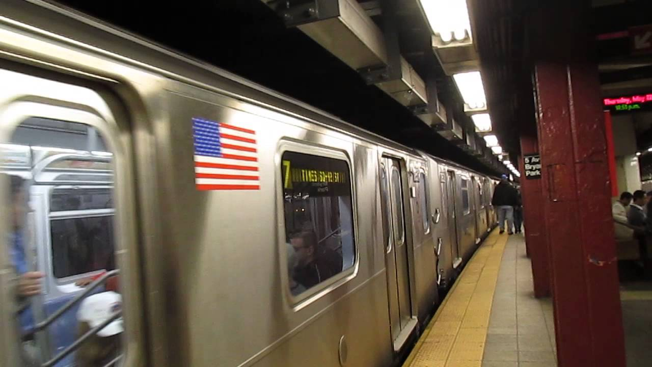NYCT R188 Special 7 Super Express departing 5th ave - 42nd st - YouTube