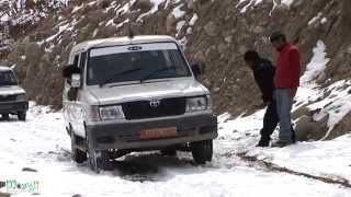 Driver Faces Problem While Driving on Ice in Leh Ladakh
