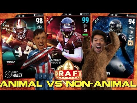 ANIMAL VS NON ANIMAL DRAFT! MADDEN 17 DRAFT CHAMPIONS