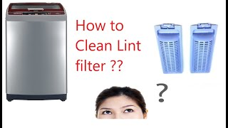 How to clean Lint filter and W…
