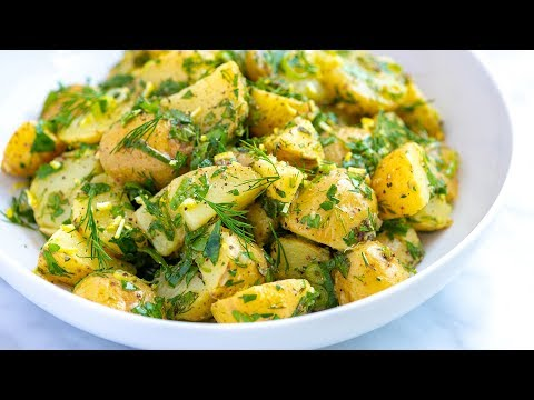 Easy Herb Potato Salad (No Mayo)
