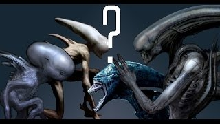 Differences between Alien Covenant, Concept Art and Prometheus Creatures