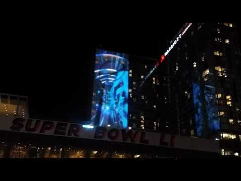 Superbowl VI awesome water display.  Houston, Texas