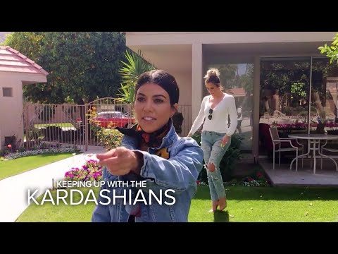 KUWTK | Kardashian Sisters Visit Their Grandparents' Old House | E!