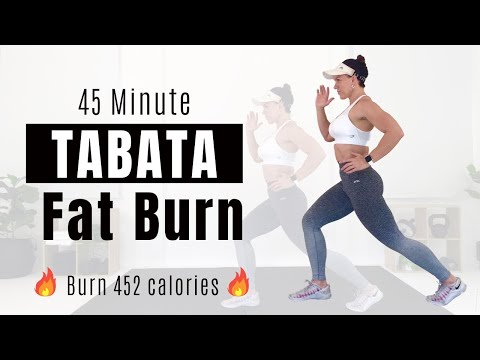 TABATA CIRCUIT FOR FAT LOSS 45 Minute High Intensity HIIT ����Burn 452 Calories����