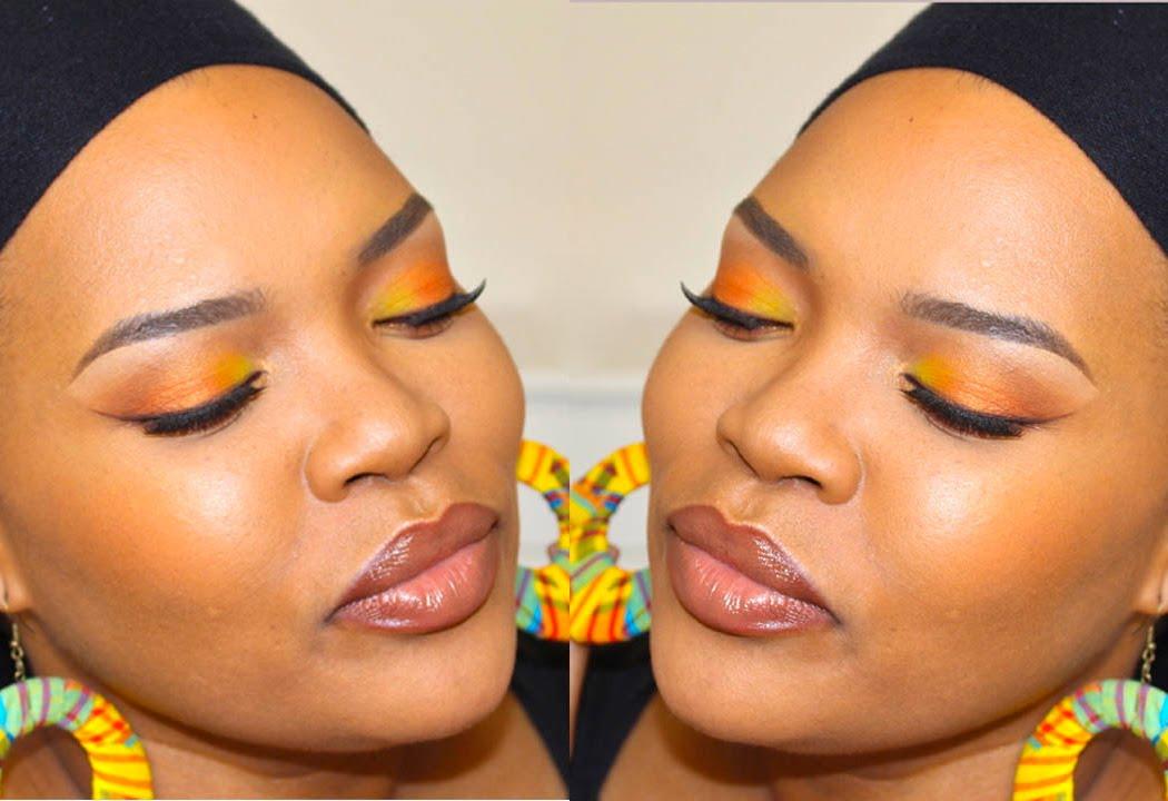 tuto maquillage color jauneorange youtube - Colori Maquillage