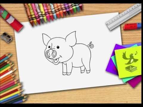 Hoe Teken Je Een Varken Zelf Varkens Leren Tekenen Youtube