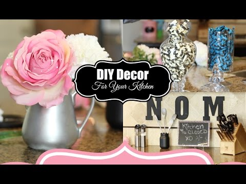 DIY Room Decor For Your Kitchen - Collab with Vasseur Beauty - MissLizHeart