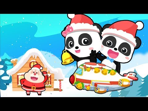 Christmas Flight to Santa Claus's Home | Gingerbread House | Xmas Gift | Christmas Songs | BabyBus