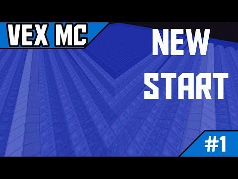 VexMc Ep #1 - LIVE STREAM RAIDING?!?! NEW START!??!