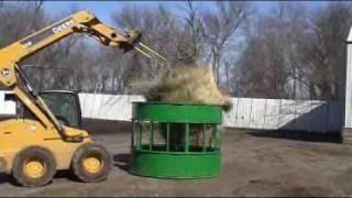 Hay Hopper Feeder/round Bale Feeder/cattle Feeder/horse Feeder/bull Feeder/hay Feeder