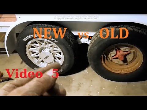 Change  Trailer axle 9.44 rims to new 5 lug rims Vid #5 (see info down Below)