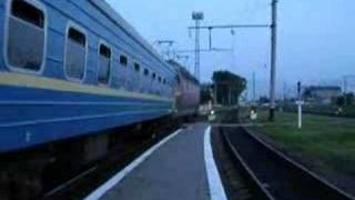 ChS4 electric locomotive in Rivne