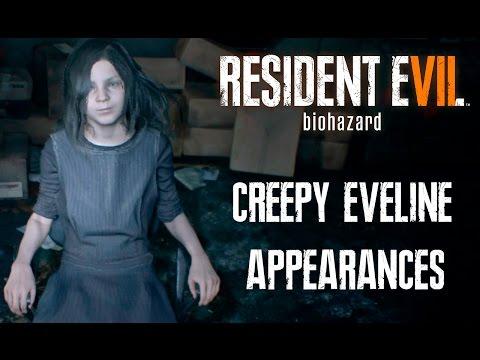 RESIDENT EVIL 7 - Creepy Eveline Appearances