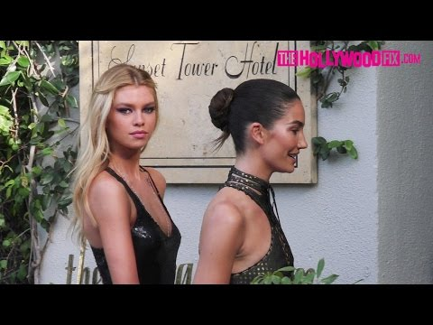 Stella Maxwell & Lily Aldridge Arrive To The Daily Front Row Fashion Awards At Sunset Tower