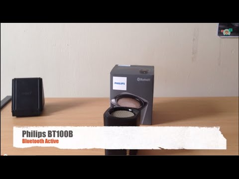 test speaker philips bt100 bluetooth active youtube. Black Bedroom Furniture Sets. Home Design Ideas