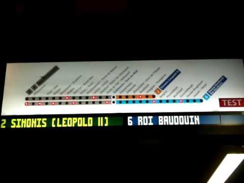 Brussels Metro Train Describer