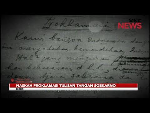 Teks Proklamasi Ditulis Soekarno Dan Diketik Sayuti Melik Merah Putih Indonesiaku 17 08 Youtube