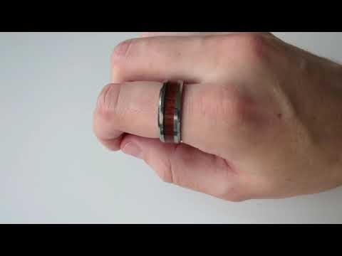 silver-tungsten-carbide-ring-koa-wood-inlay-polished-vintage-style