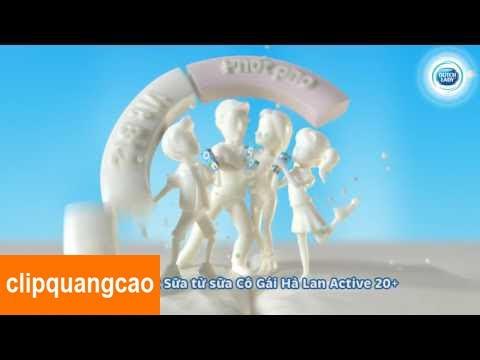 Quảng Cáo Sữa Cô Gái Hà Lan Active 20+ Mới Nhất 2017, Quảng Cáo Cho Bé Mới Nhất