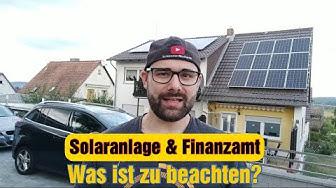 Solaranlage (PV-Anlage) & das Finanzamt - Was muss ich wissen?