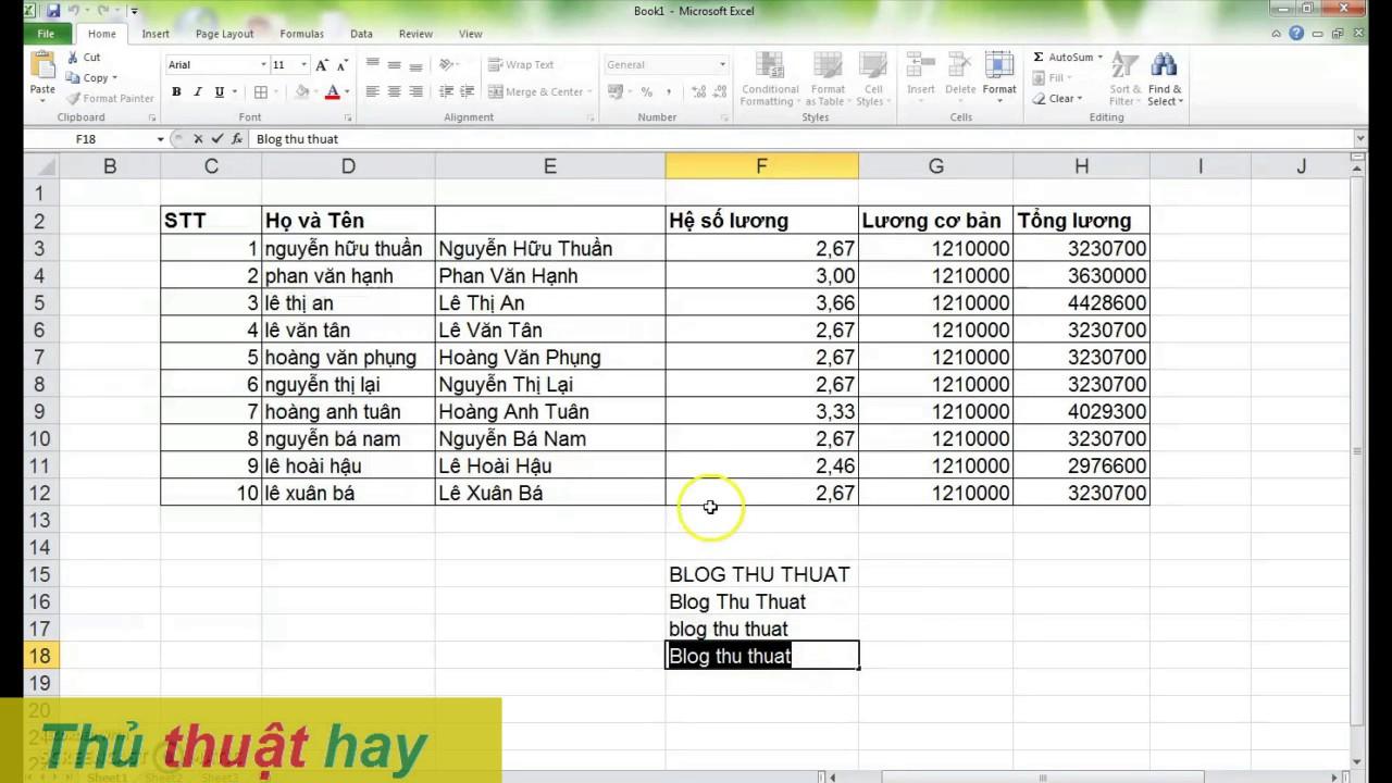 ® Chuyển chữ thường sang hoa hoặc ngược lại trong Excel