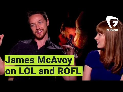 James McAvoy Finally Learns What LOL and ROFL Mean