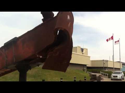 9/11 Memorial {WTC steel beam} -Calgary Military Museums-