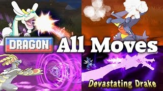 Pokémon Sun & Moon - All 17 Dragon-type Moves