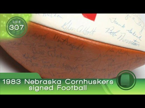 Bob Hope Auction: Cornhuskers Signed Football