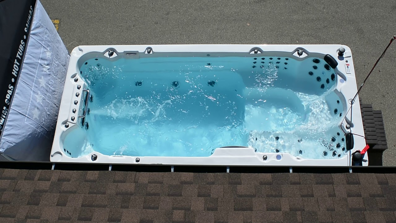 Canadian Spa Company St Lawrence 16ft Swim Spa Running - YouTube