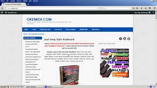 Cara Mendownload Song Style Di Website Okemidi com