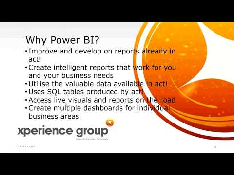 Power BI for Act CRM | Webex Recording | November 2016 | Xperience Group