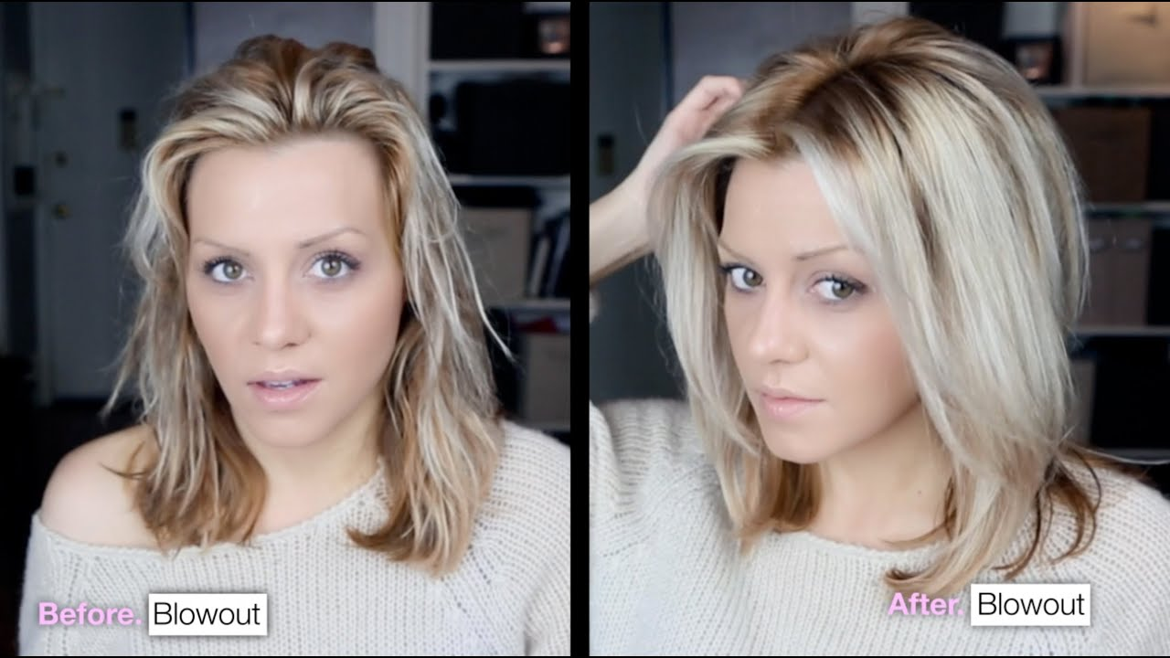 diy voluminous hair blowout tutorial