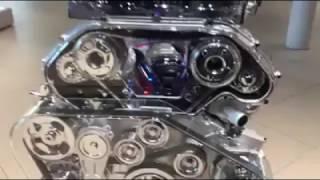 شاهد محرك v6 من الداخل وهو يعمل   moteur v6