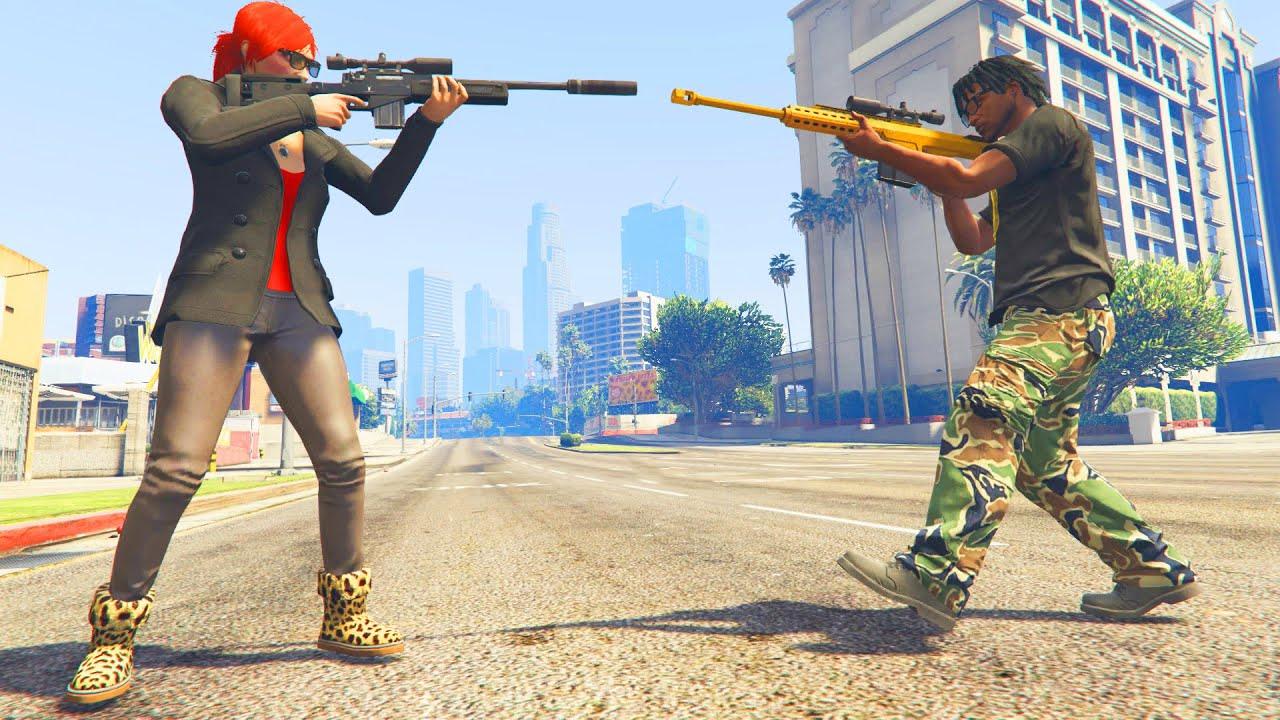 Gta 5 - 1 v 1 Sniper Battle with Xpertthief! (Gta V Online ...
