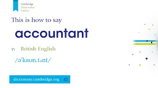How to say accountant