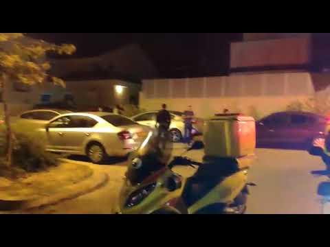 Scene of missile attack (Video: MDA)