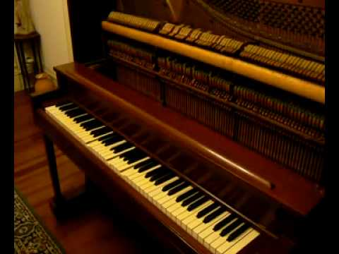 The Original 1857 Version of Jingle Bells on a player piano